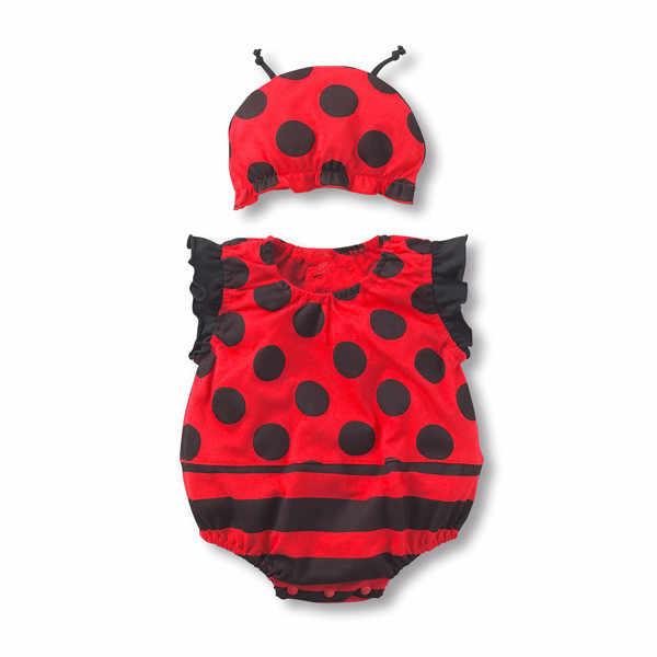 74b79dc84ed Ladybug Baby Bodysuit + Hat Baby Boy Girl Summer Strawberry Fruit Animal Cotton  Jumpsuit Infant Toddler