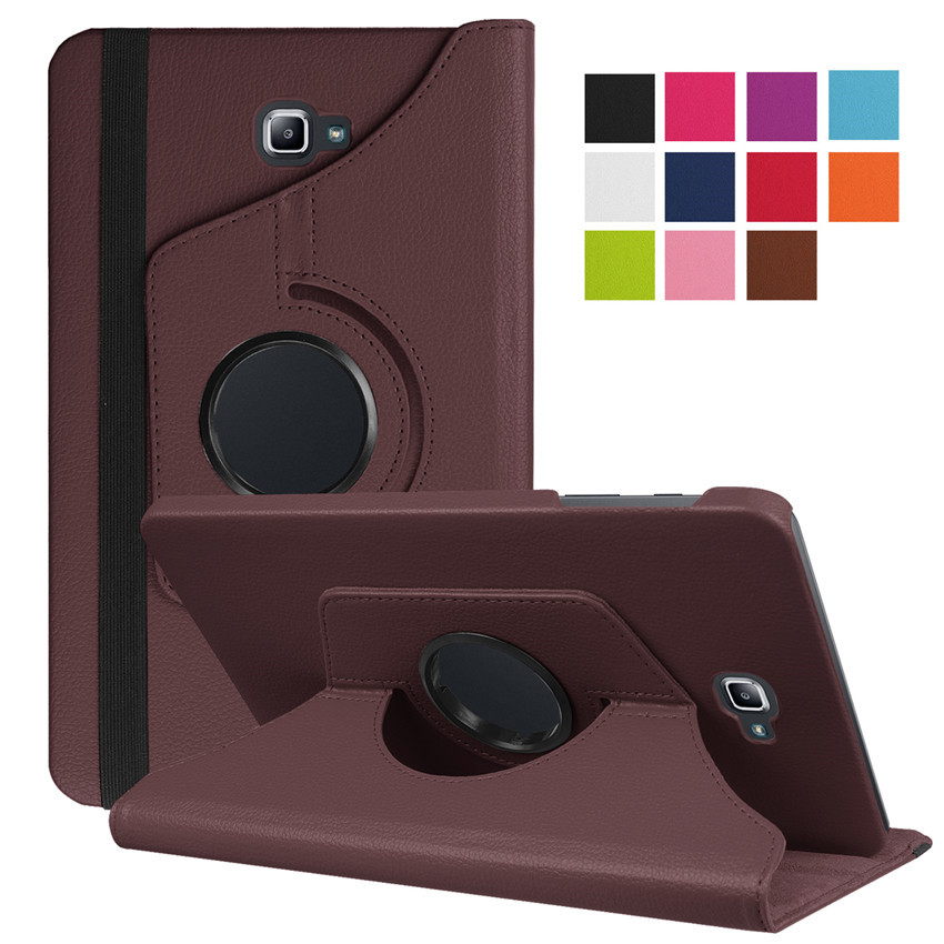 360 Degree Rotating Folio PU Leather Case For Samsung Galaxy Tab A6 10.1 Sm T585 T580 Cases Tab A6 10.1 T580N Flip Stand Cover