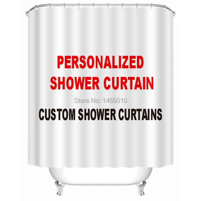 Fabric Polyester Custom Shower Curtain Personalized Curtains Waterproof Bathroom OEM