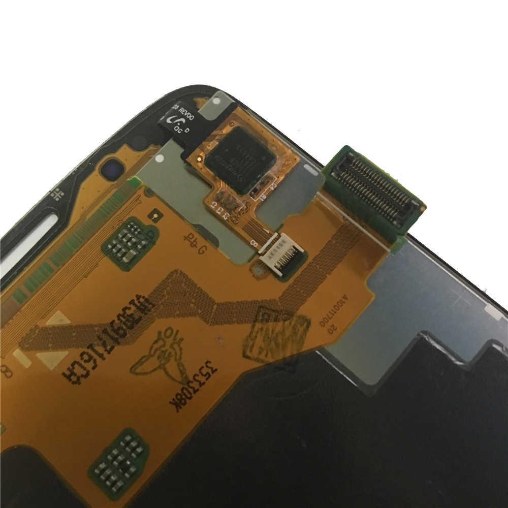سوبر AMOLED شاشات الكريستال السائل لسامسونج غالاكسي S4 نشط i9295 i537 شاشة إل سي دي باللمس الجمعية الشاشة رمادي/أبيض