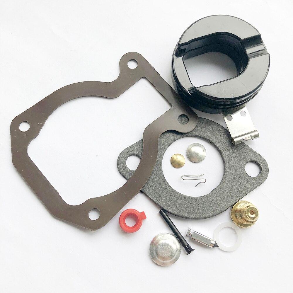 Carburetor Carb Kit w// Float For Johnson Evinrude 9.9 HP 15 HP 1974-1988 398453