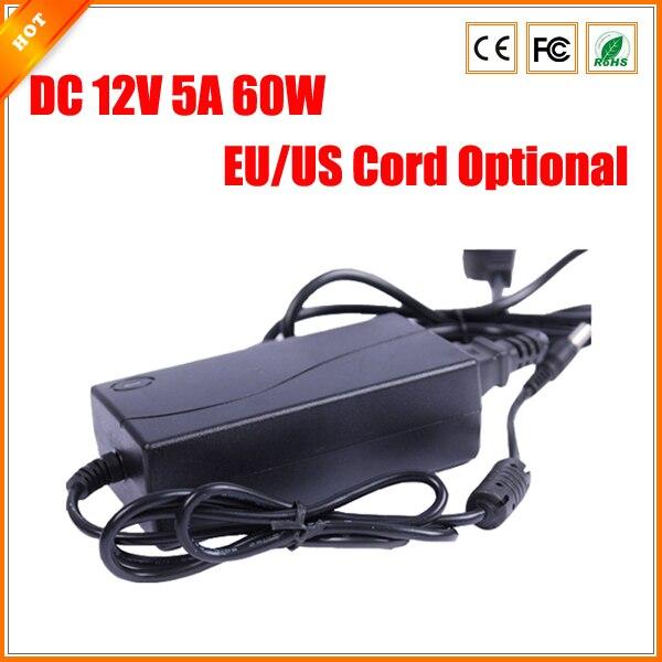 bilder für UNS EU Kabel Optional Freies Verschiffen DC 12 V 5A 60 Watt Netzteil für Cctv-kamera Adapter Ladegerät für Sicherheitssystem