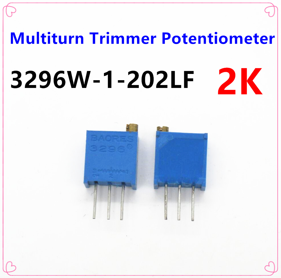 10pcs//lot 3296W-1-102LF 3296W 1K ohm 102 3296W-1-102 3296W-102 W102 Trimpot Trimmer Potentiometer