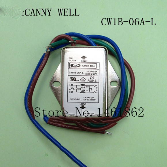 CW1B-06A-L AC 115V/250V 6A Power Single Phase Line EMI Filter   Electrical Equipment 7 frequency super anal plug toys 160x30mm butt plug booty beads the sex toys for male and female sex products for men and women