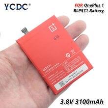 Recargable BLP571 del teléfono móvil de la batería de 3,8 V BLP 571 Li-Ion 3100mAh batería para OnePlus One (uno más uno/OnePlus 1/y 1)