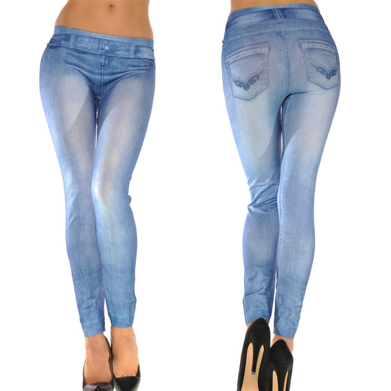 825b357a78b Attractive Women Ladies Skinny Solid Color Denim Stretch Sexy Pants ...