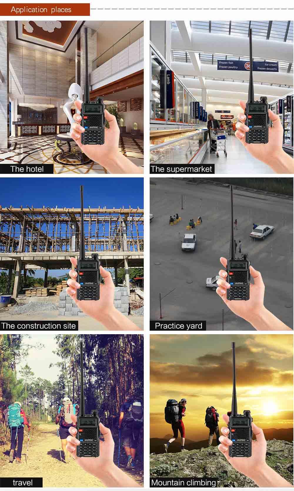 2Pcs BaoFeng UV-5R Walkie Talkie VHFUHF136-174Mhz&400-520Mhz Dual Band Two way radio Baofeng uv 5r Portable Walkie talkie uv5r (19)
