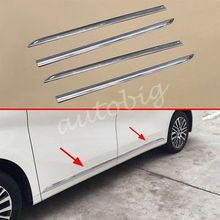 Chrome Door Body Strips For Toyota Alphard 2016 2017 Side Molding Accessories