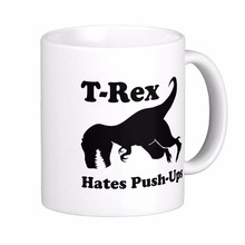 8df5cfcecd698 COME AGAIN T Rex Hates Push Coffee Mugs Ceramic Coffee Mugs