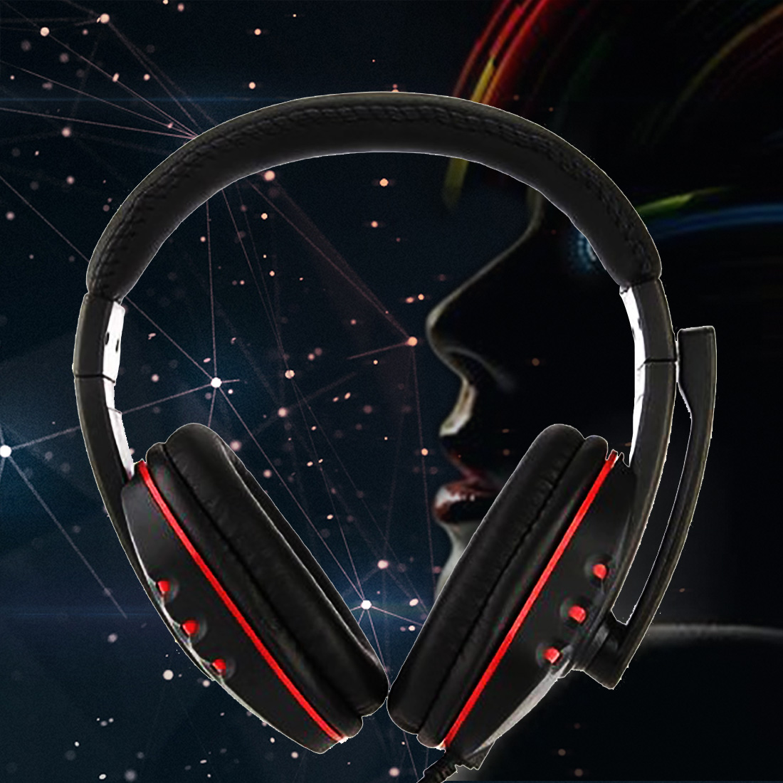 Marsnaska Hot Sale USB Over-Ear Gaming Earphones Bass Stereo Headphones Headset Earbuds With Microphone for pc gamer ps3 jm38 3 5mm in ear stereo earphones headphones music headset earbuds with microphone for iphone samsung xiaomi huawei mp3 mp4 pc