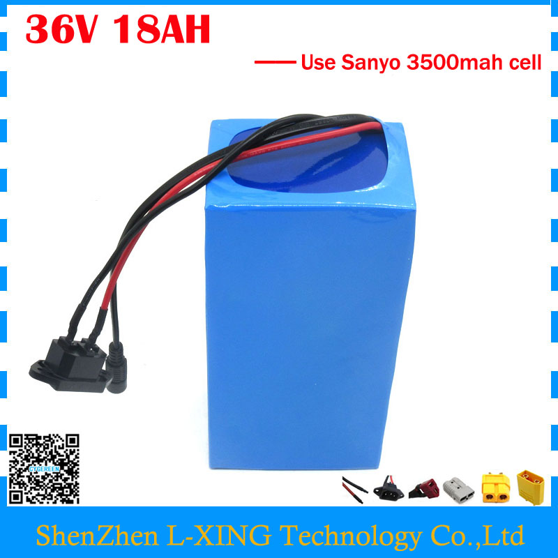 EU US free tax 36V lithium battery 36V 18AH electric bike battery use SANYO NCR18650GA 3500mah cell 30A BMS 42V 2A Charger 30a 3s polymer lithium battery cell charger protection board pcb 18650 li ion lithium battery charging module 12 8 16v