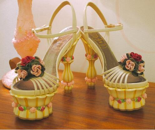 Summer/Spring Party Sweet Solid Yellow/Blue Special Design Flower Fretwork Heels Women Buckle Strap Elegant Sandals Free Ship brand new sale fashion low fretwork heels rhinestone women party shoes elegant sweet ankle buckle strap lady top quality sandals