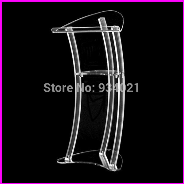 Free Shipping Acrylic Podium, Church Pulpit And Podium, Acrylic Pulpit Furniture