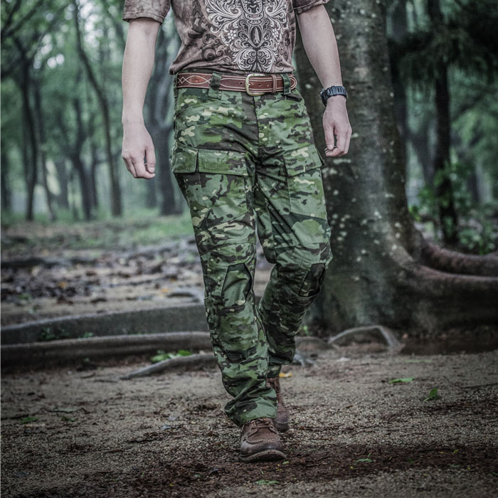 MTP MTP E ONE tactical Pants combat pants can hold knee protection / Tactical Army Ripstop Pants Multicam Tropic