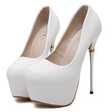 Platform Pumps Women Round Toe High Heels Extreme Sexy Party Wedding Valentin shoes
