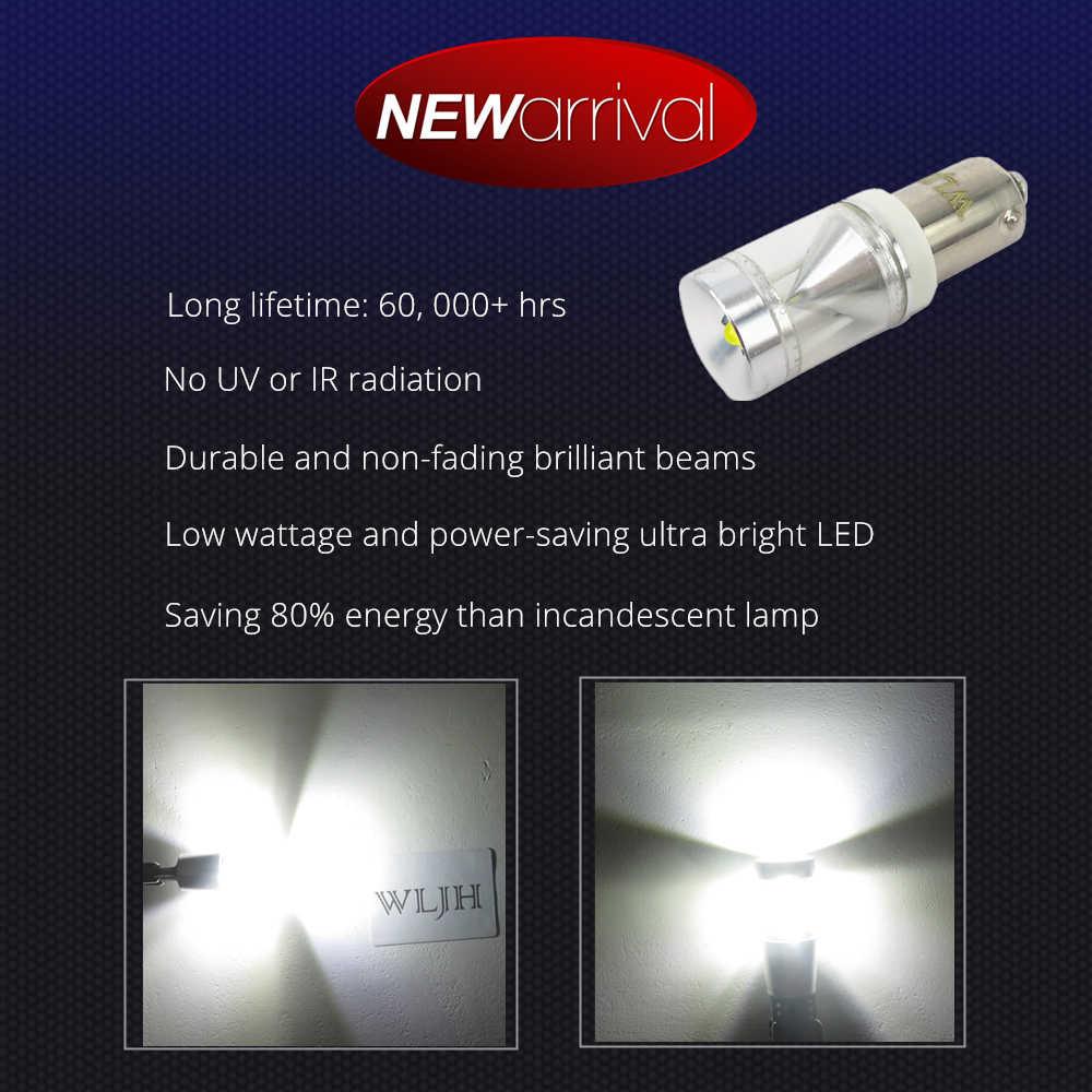 WLJH 2x Canbus 500lm 9 w אין שגיאת Ba9s T4W LED אור רכב פנים חניה עמילות מספר צלחת גיבוי מחוון בשעות היום אור