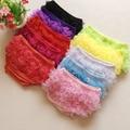 11 color del bebé calzoncillos Verano Nueva Novedad de La Llegada del color Sólido Del Cordón de Los bebés Moda de ropa interior linda bragas Calzoncillos de Los Niños