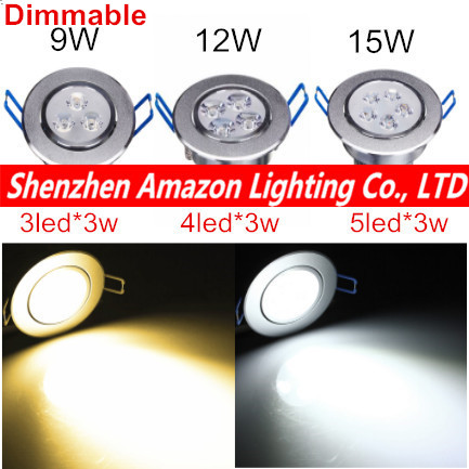 1pcs dimmable led recessed ceiling light 9w 12w 15w cabinet wall 1pcs dimmable led recessed ceiling light 9w 12w 15w cabinet wall spot down lamp cold white aloadofball Images
