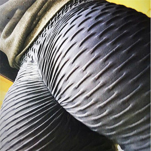 Image 5 - SVOKOR Fitness Weibliche Leggings Polyester Ankle Länge Atmungs Hosen Leggins Frauen Standard Falten Push Up Legging