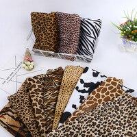 Животных печати Короткие Плюшевые ботинки Ткань Тигра, леопарда полосатый Зебра узор ткани для поделок одежды игрушка-подушка ковер декора...