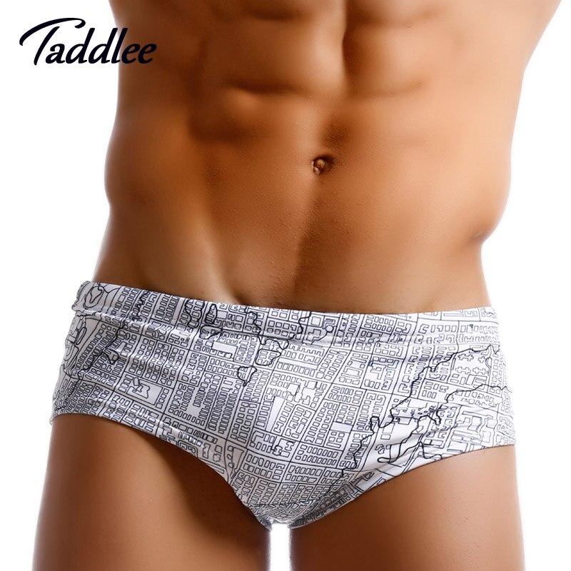 Taddlee Brand Men trajes de baño Bañadores de natación Bikini Trajes de baño para hombre atractivos Boxeador Trunks Shorts Gay Tabla de surf de cintura baja Shorts