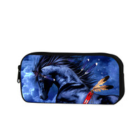 2016 Animal Printing Cosmetic Case Children School Pencil Bag Zippered Pecil Case For Office Cosmetic Bag