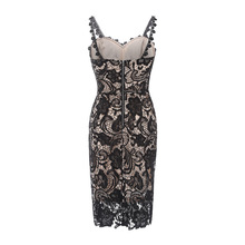 Corchet Embroidery Lace Bandage Floral Bodycon Dress