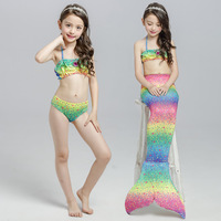 Kids Girls Fancy Mermaid Tail Bikini Set Summer Swimsuit Swimming Costume Bathing Suit Beach Swim Wear
