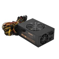 2018 High Quality 1600W 3 Fans Miner Mining Dedicated Power Supply Support 6 Graphics For Coin Mining Machine