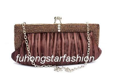 Brown,Wild hot fashion, handbags packet,bride money bag,beaded bag,banquet package,Free Shipping