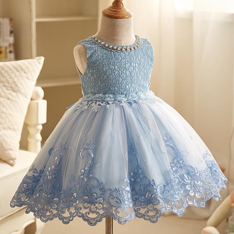 купить Winter Vintage Toddler Girl Dresses Fall 2017 Children Summer Party and Wedding Birthday Flower Girl Prom Party Birthday Dress по цене 1519.38 рублей