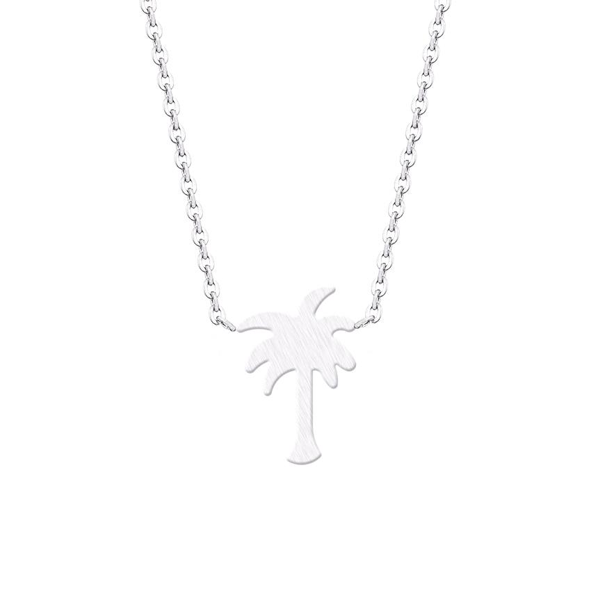 Island Life Palm Tree κολιέ από ανοξείδωτο - Κοσμήματα μόδας - Φωτογραφία 3