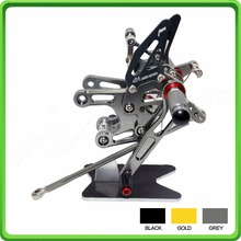 CNC Adjustable Rearsets rear set sets footrest foot pegs pedal For Kawasaki Ninja ZX10R ZX 10R ZX-10R 2008 2009 2010 Gray