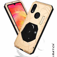 IMATCH Original For For Xiaomi Redmi Note 7 Pro Phone Case Hard Aluminum Metal Protector Full Cover Armor Heavy Duty Shockproof