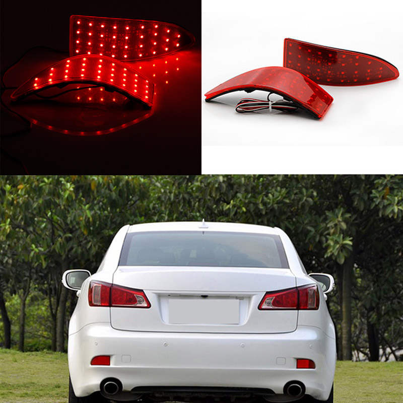 For Lexus IS250/IS300/IS350 2006-2013 12V LED Read Rear Bumper Reflector Lights Brake Parking Light Auto Tail Night Running Lamp коврик в багажник lexus gx 460 02 2010 2013 2013 кросс 7 мест кор полиуретан