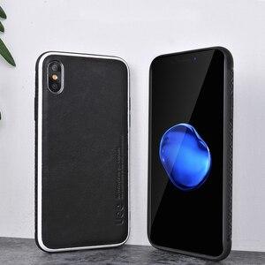 Image 4 - Echtes Leder für iphone 7 fall fashion Business telefon fall für iPhone 8plus X XS einfarbig Schock widerstand schutzhülle