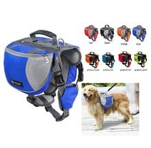 Luxury Pet Large Dog Backpack Chest Pack Saddle Bag Harness Carrier Adjustable Outdoor Traveling Hiking Camping