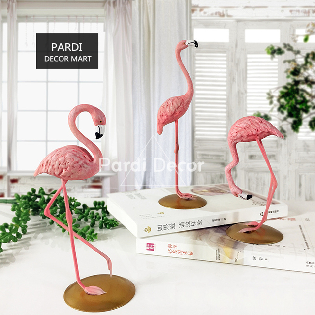 Brand New Handmade Pink Flamingo Home Decoration Window Display Props Wedding Decorations Gifts 1pc