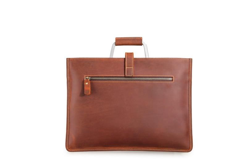HTB1LVopmcIrBKNjSZK9q6ygoVXaw Genuine Leather Men's Handbags Crazy Horse Leather Man Retro Tote Bag Shoulder Messenger Bag Business Men Briefcase Laptop Bag