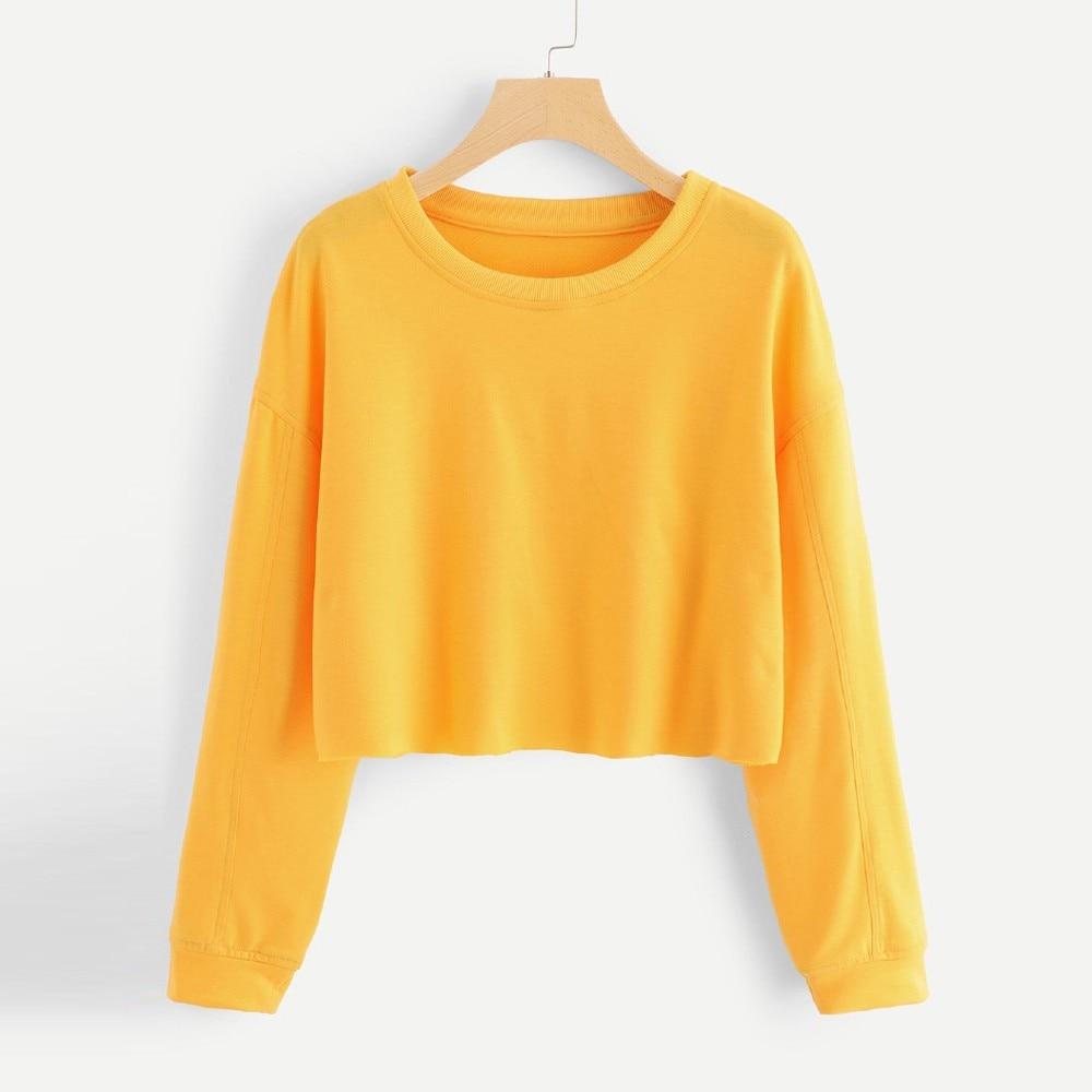Pull Livraison Épaule Touch 2019 Jaune Mince À Longues Femmes Hem shirt Sweat Nouveauté Hauts Femelle Manches T Soft Directe Top De Raw Uq4Y77w