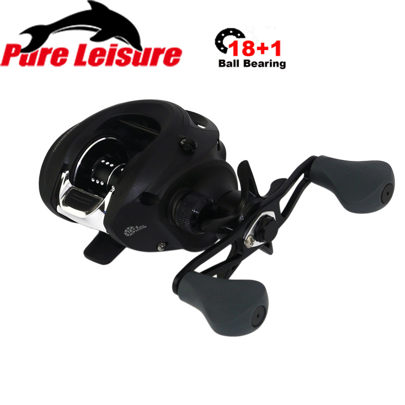 PureLeisure 18 1 BB Fishing Reel Carbon Shell Lightweight 170g Winter Fishing Baitcasting Reel Casting Reel