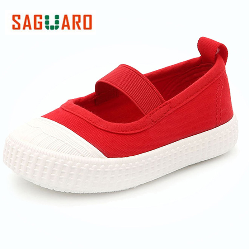 SAGUARO Kids Shoes For Girl Boys Canvas Shoes Children Sneakers 2017 Autumn Slip-on Breathable Casual Girls Shoes Tenis Infantil