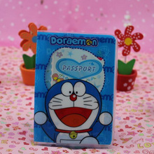 2016 Fashion  PVC passport Cover , ID Credit Card Cover business Card -ID Holders for travel -doraemon logo pattern