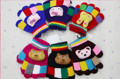 One pair New Cute animal cartoon five fingers in autumn and winter warm wool gloves knitted colorful children YH