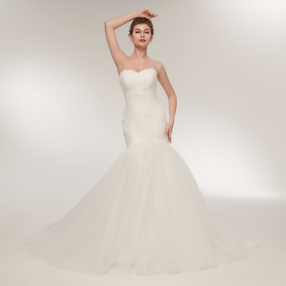 Sexy Wedding Dresses Mermaid Sweetheart Tulle Long Formal Wedding Gowns New coleccion vestido de novia 2018 casamento Dress
