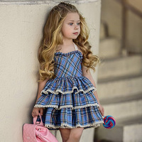 baby dress baby girl summer clothes 2019 cute plaid toddler girls princess dresses kids party birthday dress size 1 2 3 45 years