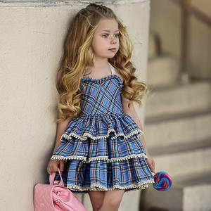 Five Year Old Birthday Outfit 5 Fifth Baby Girl Summer Clothes Dress 2018 Cute Plaid Toddler Girls Princess Dresses Kids Party