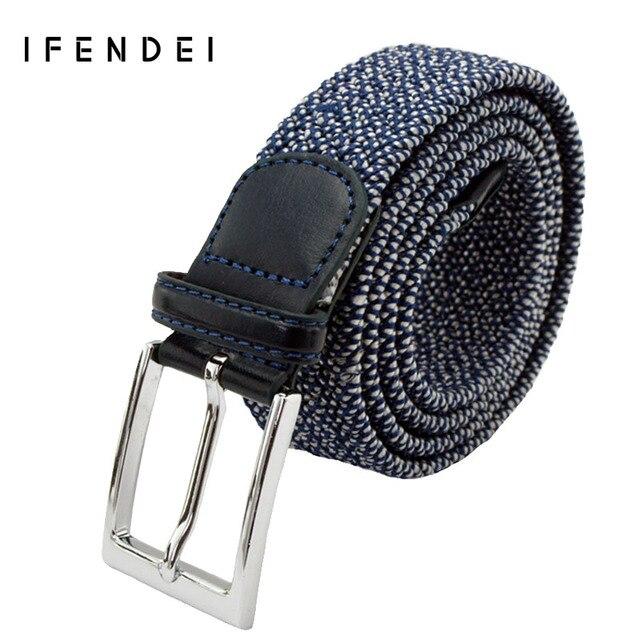 IFENDEI Casual Canvas Men's Belt Elastic Stretch Vintage Woven Belts Men Sports Outdoor Straps Wild Cinturones Hombre Jeans Belt