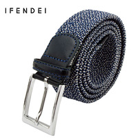 Men S Fashion Belt Knitted High Quality Belts For Men Casual Dot 115cm IF M003
