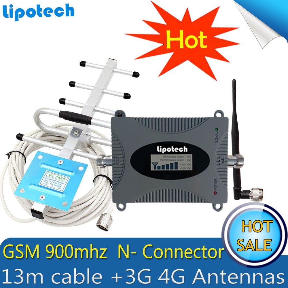 Lintratek GSM 900 Mhz 2G amplificateur de Signal cellulaire Mobile GSM 900 répéteur de Signal amplificateur de téléphone portable 2G 3G 4G antennes